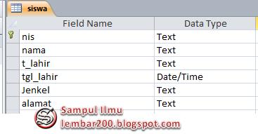 Cara Membuat Database VB Menggunakan Microsoft Access