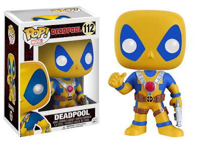 Amazon Exclusive Blue & Yellow X-Men Costume Deadpool Movie Pop! Marvel Vinyl Figure by Funko