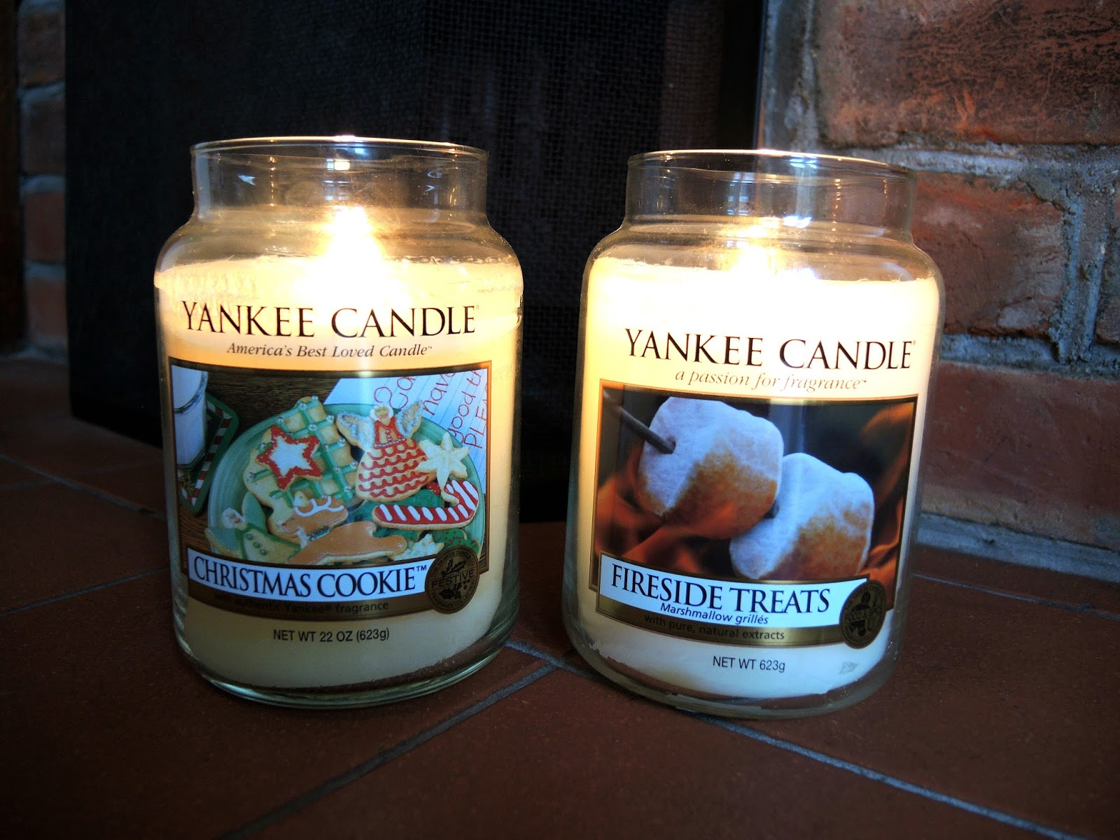 Yankee Candle Christmas Cookie and Fireside Treats