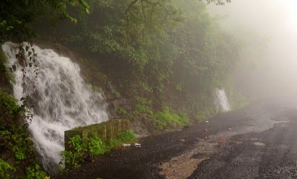 monsoon drive in Amboli ghat, waterfalls in amboli ghat