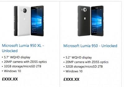 Microsoft Lumia 950 - Microsoft Lumia 950 XL