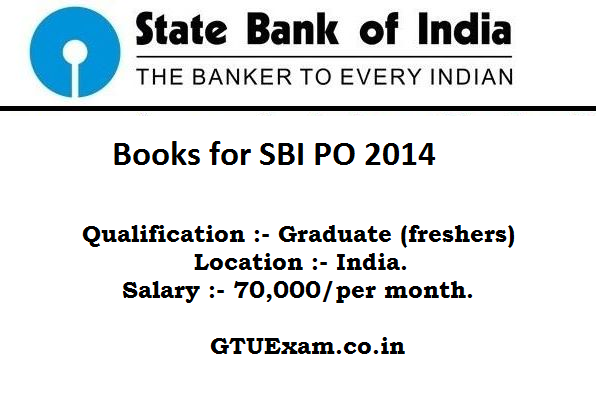 Subject Wise Books for SBI PO 2014