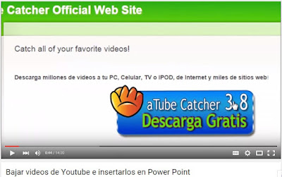 bajar videos de youtu y alojarlo en el power point
