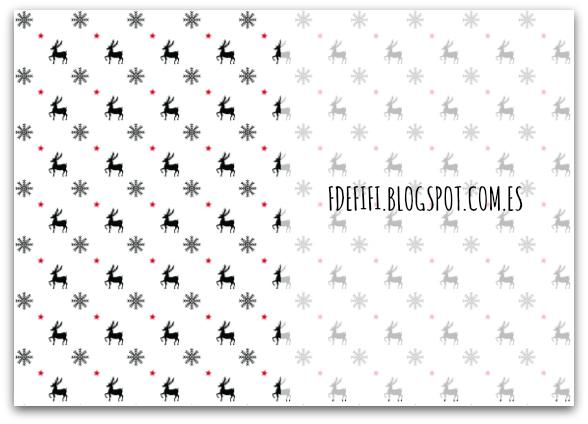 Papel navideño - Imprimible gratis para descargar | Blog F de Fifi ...