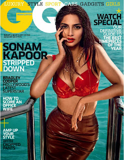 www.CelebTiger.com++GQ+Photoshoot+India+Sonam Kapoor01 Sonam Kapoor Shows Hot Cleavage In GQ India 2013 HQ Photos