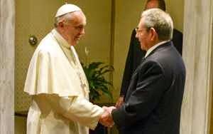 Raúl y el Papa Franciswco