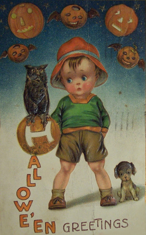 My Owl Barn Vintage Halloween Postcards