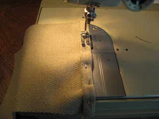 Sew finished edge