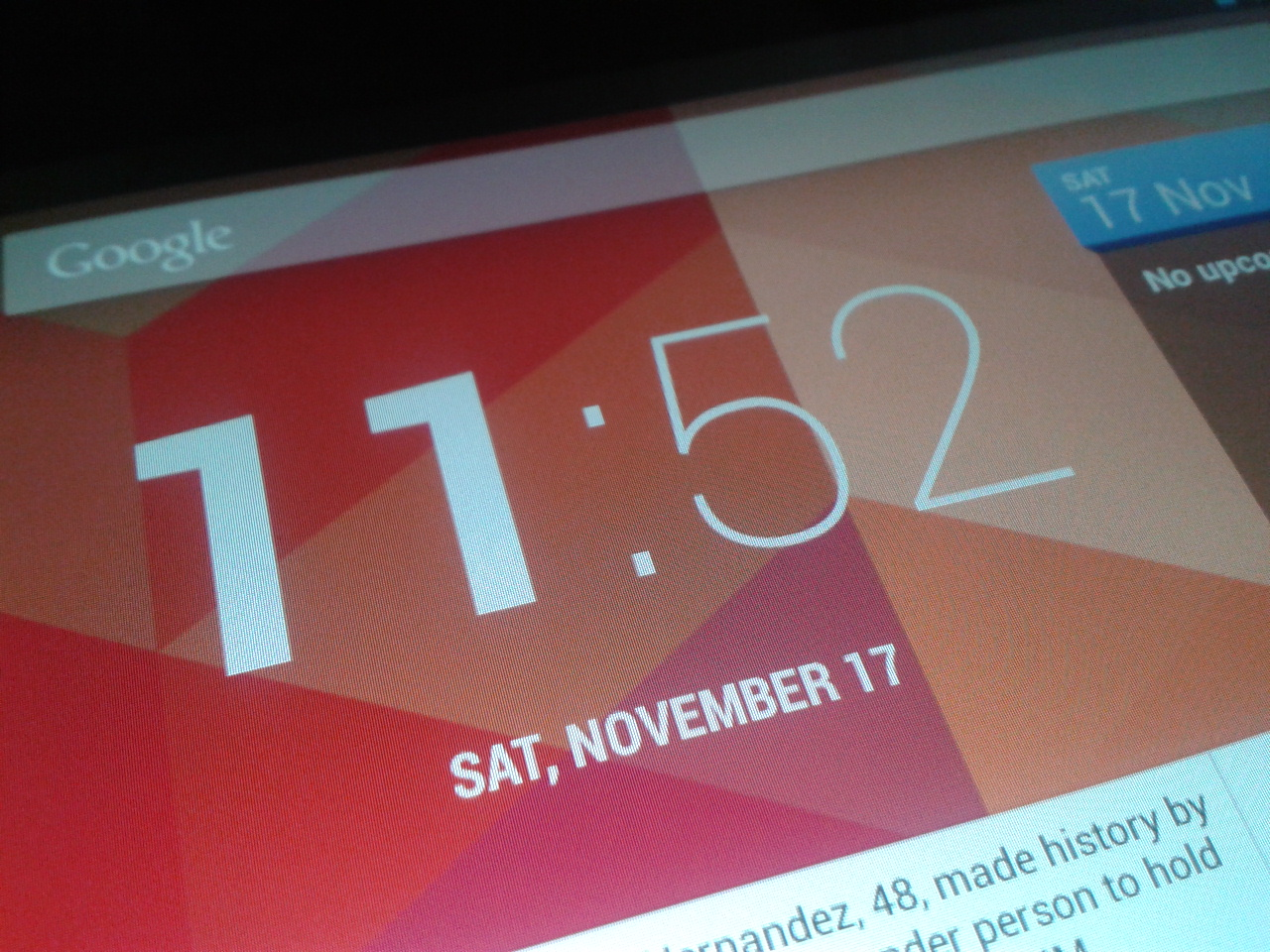 Clock widget for Android 4.2