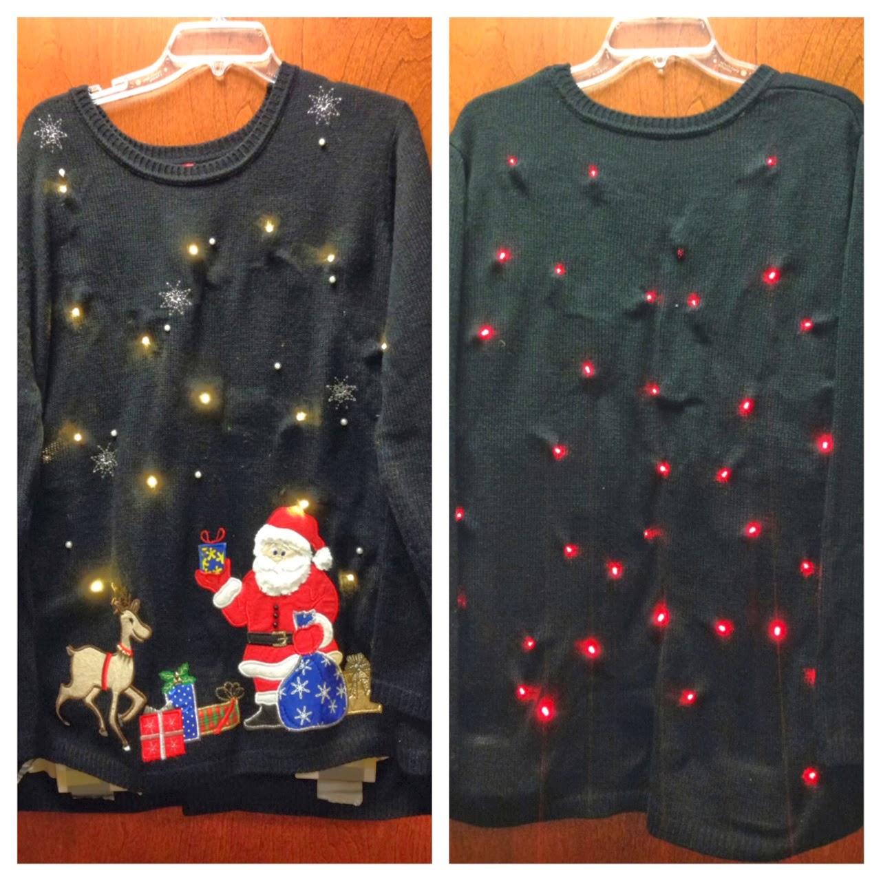 Lovely DIY Light Up Christmas Sweater