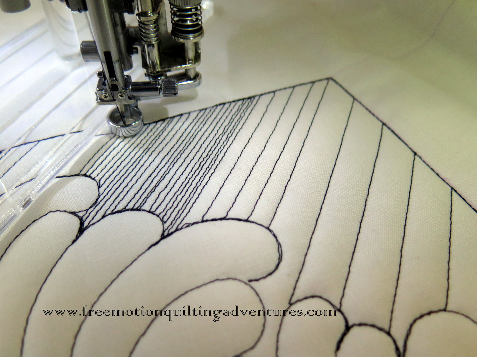 Free motion quilting with rulers Matchsticks