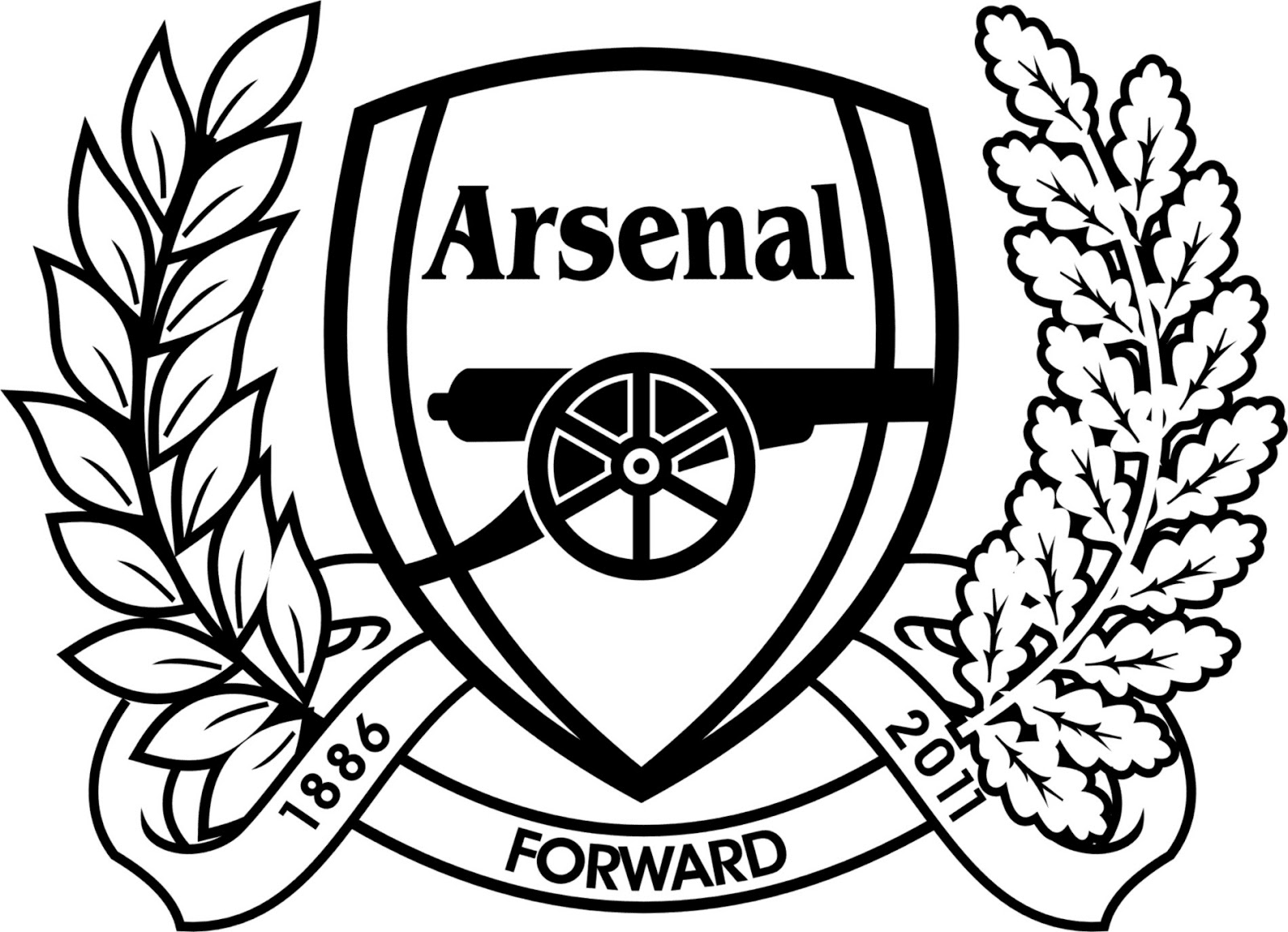arsenal coloring pages - arsenal fc coloring page coloring pages