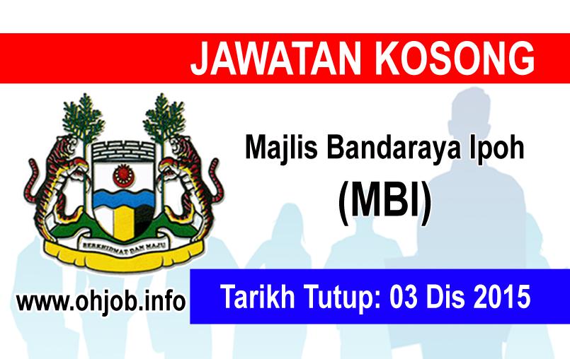 Jawatan Kerja Kosong Majlis Bandaraya Ipoh (MBI) logo www.ohjob.info disember 2015