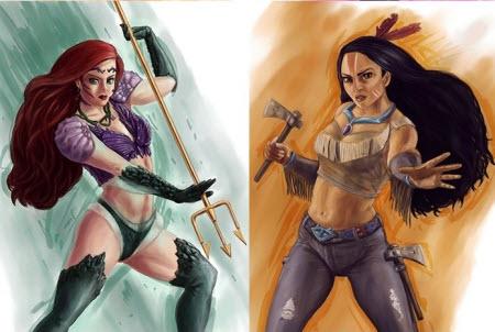 Princesas de Disney en versión guerrera