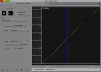 The Motion Effect Editor in the Avid Editing system.
