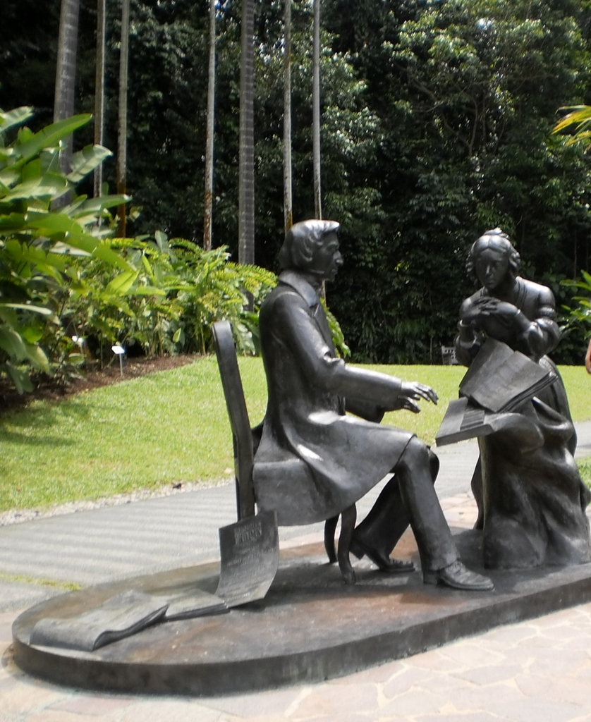 Frederick Chopin near the Symphony Lake in Singapore Botanic Gardens