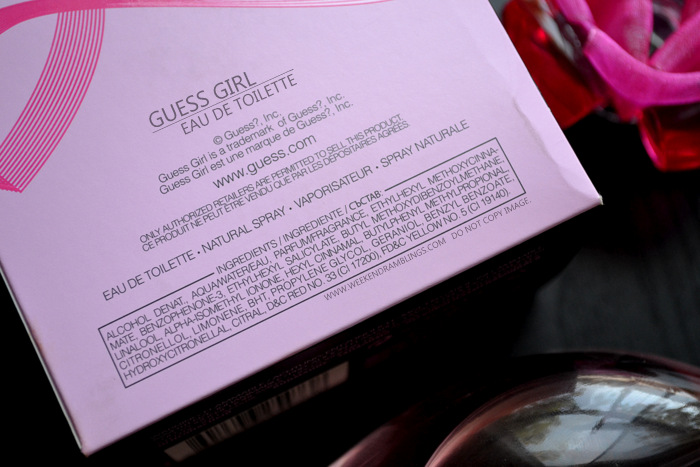 Guess Girl Eau de Toilette Perfume Spray for Women Summer Fragrances Rose Scent Blog Review Ingredients
