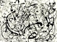 Obra de Jackson Pollock a modo de ilustración del sueño Huyendo hacia el mismo sitio