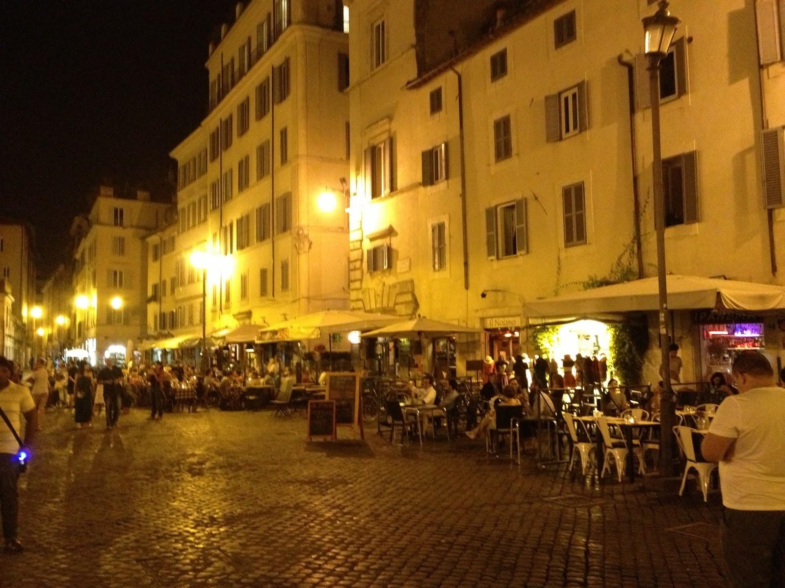 Image result for Campo dei Fiori market rome night
