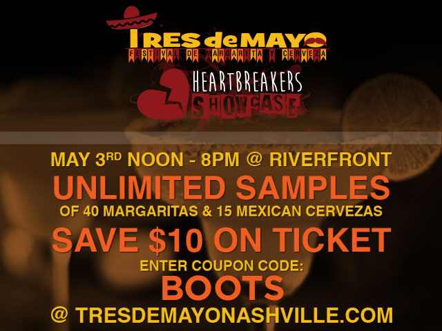 Discount Code for $10 off Tres De Mayo- Margarita Festival Nashville