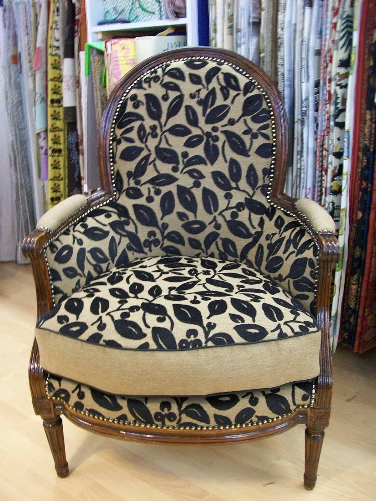 L 39 berg re a coussin for Housse de fauteuil bergere