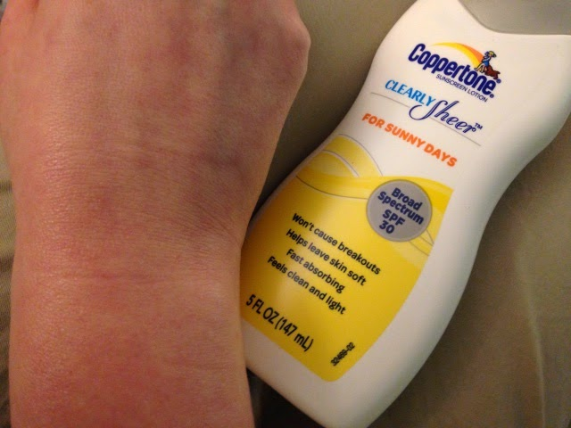 Coppertone Clearly Sheer Sunscreen Lotion put to the test on my arm