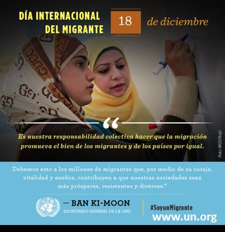 18 de Diciembre: Día Internacional del Inmigrante.