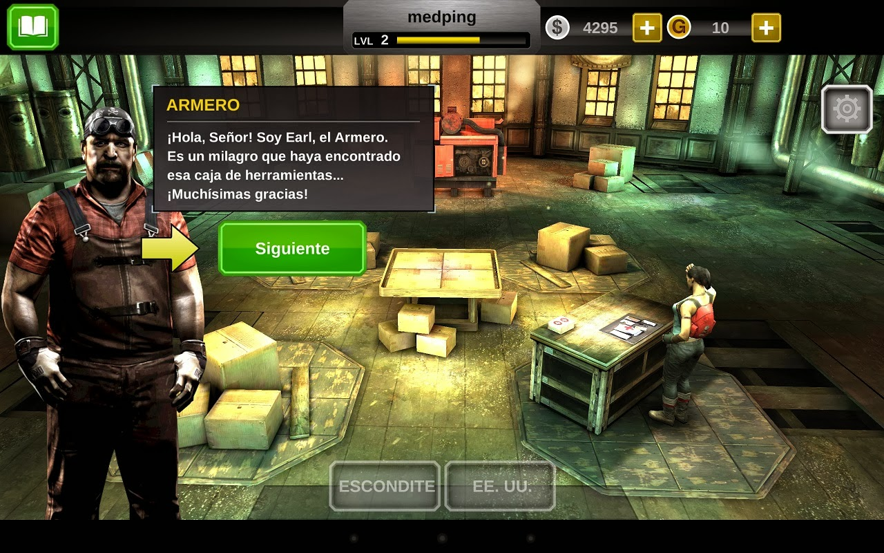 Dead trigger 2 para Android, iPhone e iPad, escondite del juego