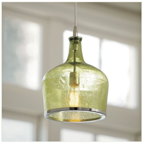 B e interiors wine bottle pendant - Wine bottle pendant light ...