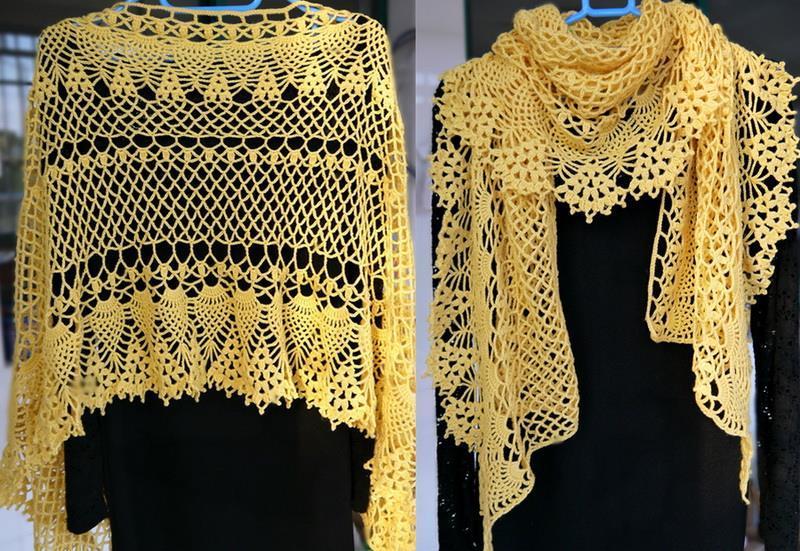 Easy Lacy Crochet Shawl Pattern : Crochet Shawls: Crochet Pattern Of Lace Shawl Wrap - Fine ...