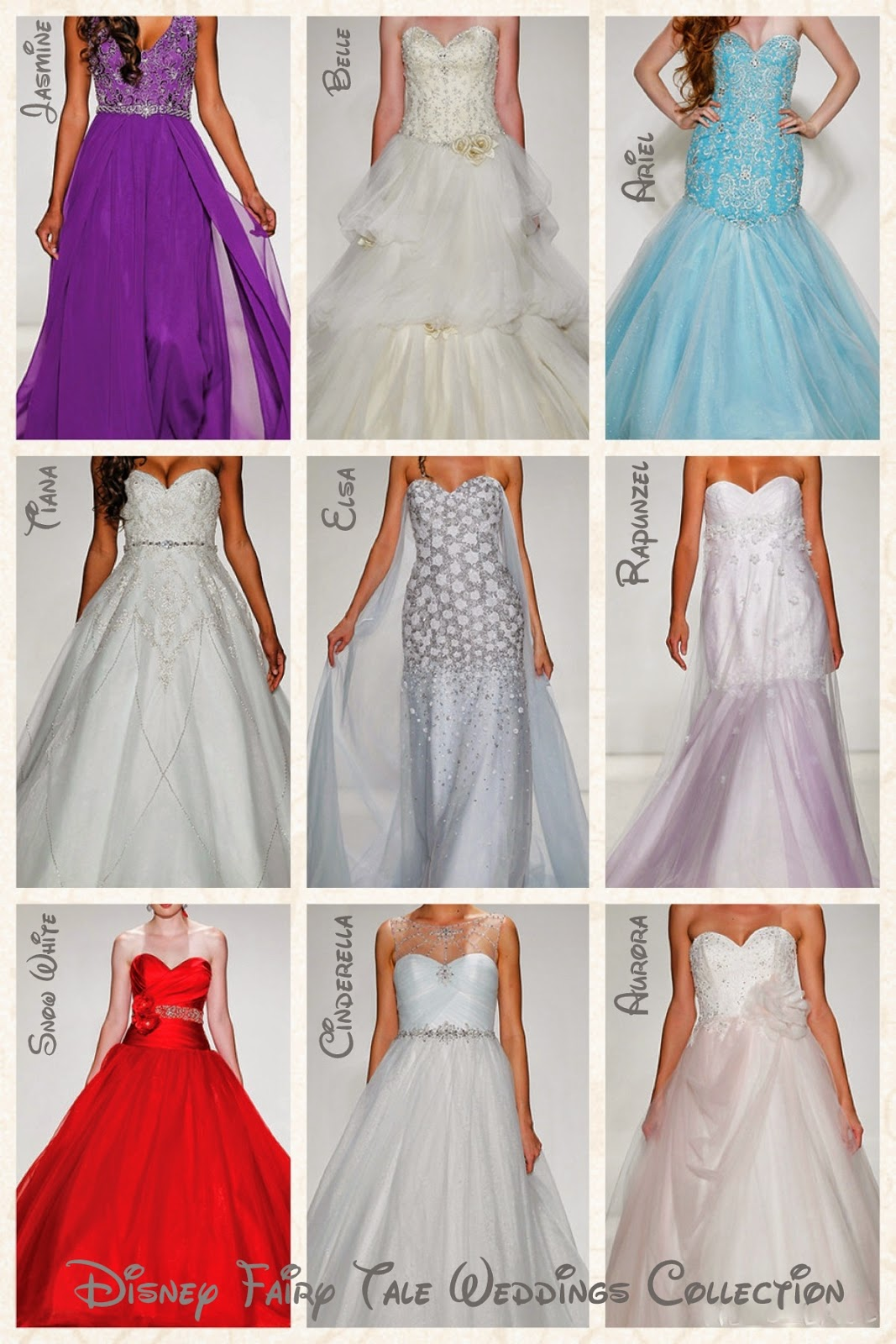 Disney Princess Inspired Wedding Dress Collection