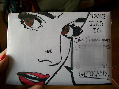 Mail art, Retro, Pen pals, Snail mail, That's the way the cookie crumbles.