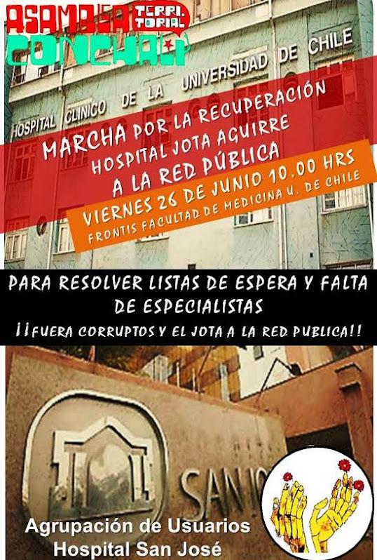 INDEPENDENCIA: MARCHA POR LA RECUPERACIÓN HOSPITAL JOTA AGUIRRE