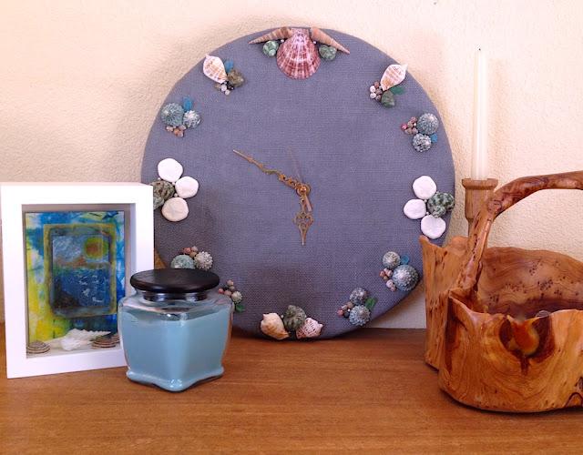 burlap shell smoothfoam wall clock