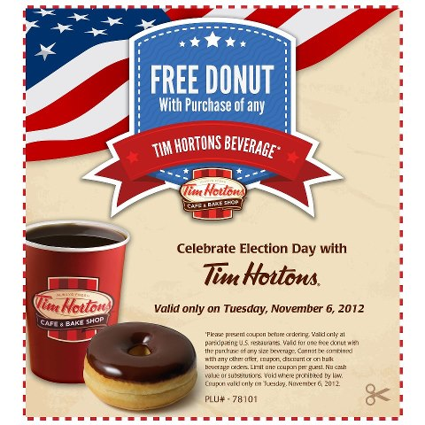 graphic about Tim Hortons Coupons Printable called Tim hortons free of charge donut coupon codes / September 2018 Discounts