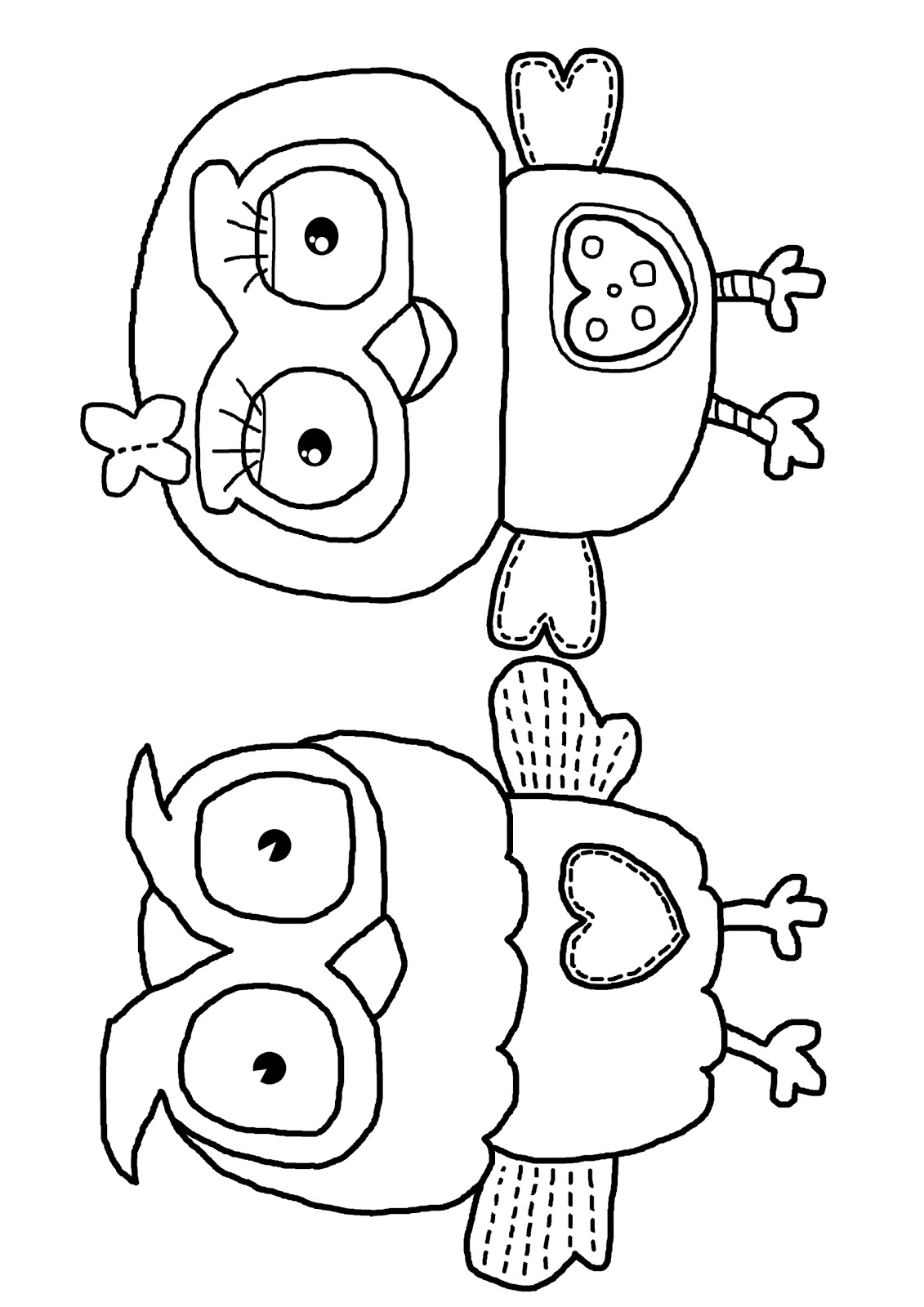 Milk Eyes: Giggle And Hoot Free Colouring Coloring Page Download