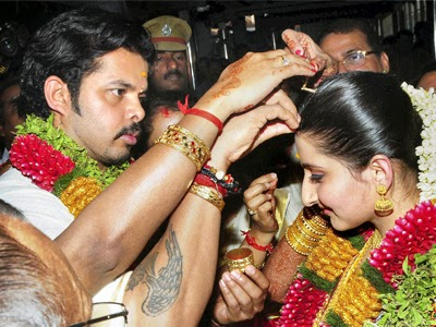 Sreesanth Ties knot With Jaipur Royal