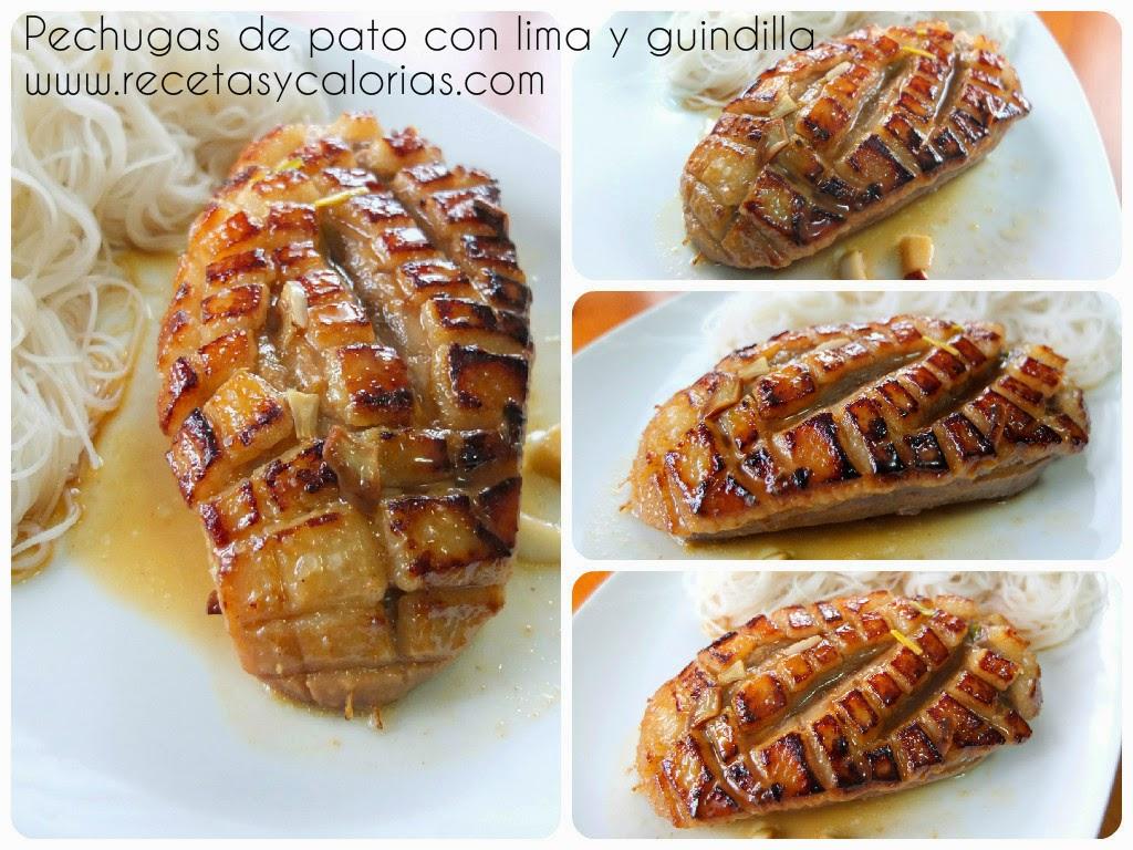 Pechugas De Pato Con Lima Y Guindilla
