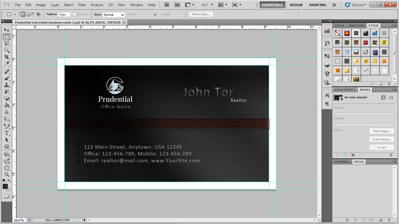 Free prudatential real estate business card template pu001 3 open layer setting you will be found front and back layer in smart object double klik front smart object thumbnail or you can right click then click reheart Choice Image