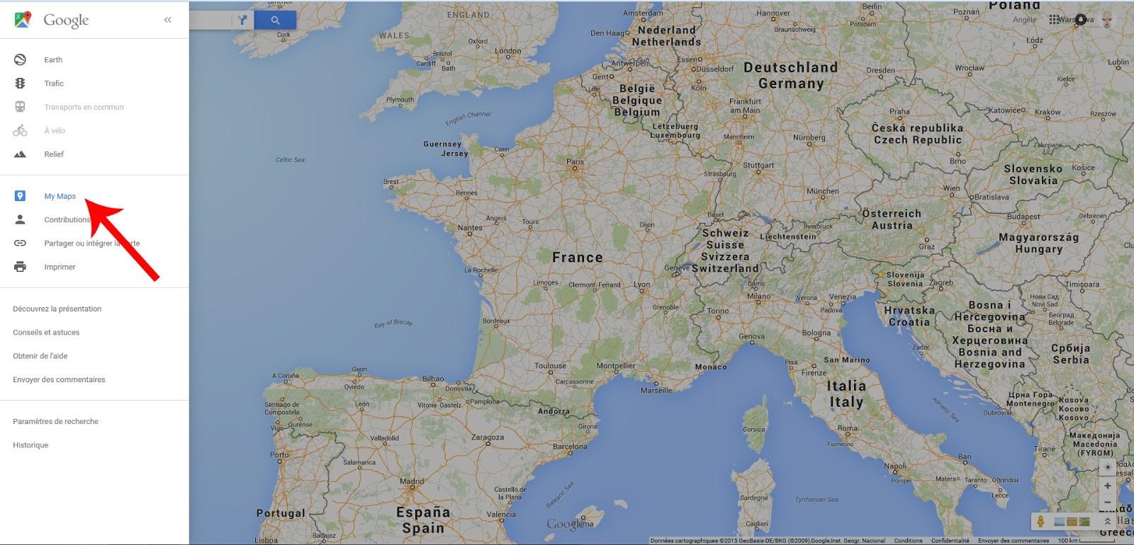 carte espagne google map