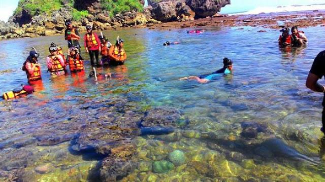 Snorkeling Seru Di Pantai Nglambor Gunungkidul