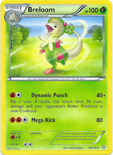Breloom Primal Clash Pokemon Card