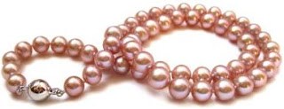 HinsonGayle Handpicked AAA Naturally Pink Cultured Pearl Necklace