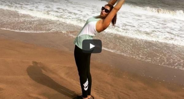بالفديو : هدى سعد وممارسة الرياضة على إيقاعات الشعبي