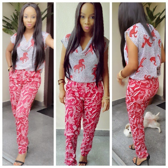Photos:Toke Makinwa in a colorful Jumpsuit