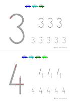 nauka pisania cyfr do wydrukowania