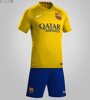 gambar celana bola barcelona away musim 2015/2016 kualitas grade ori celana musim depan barca