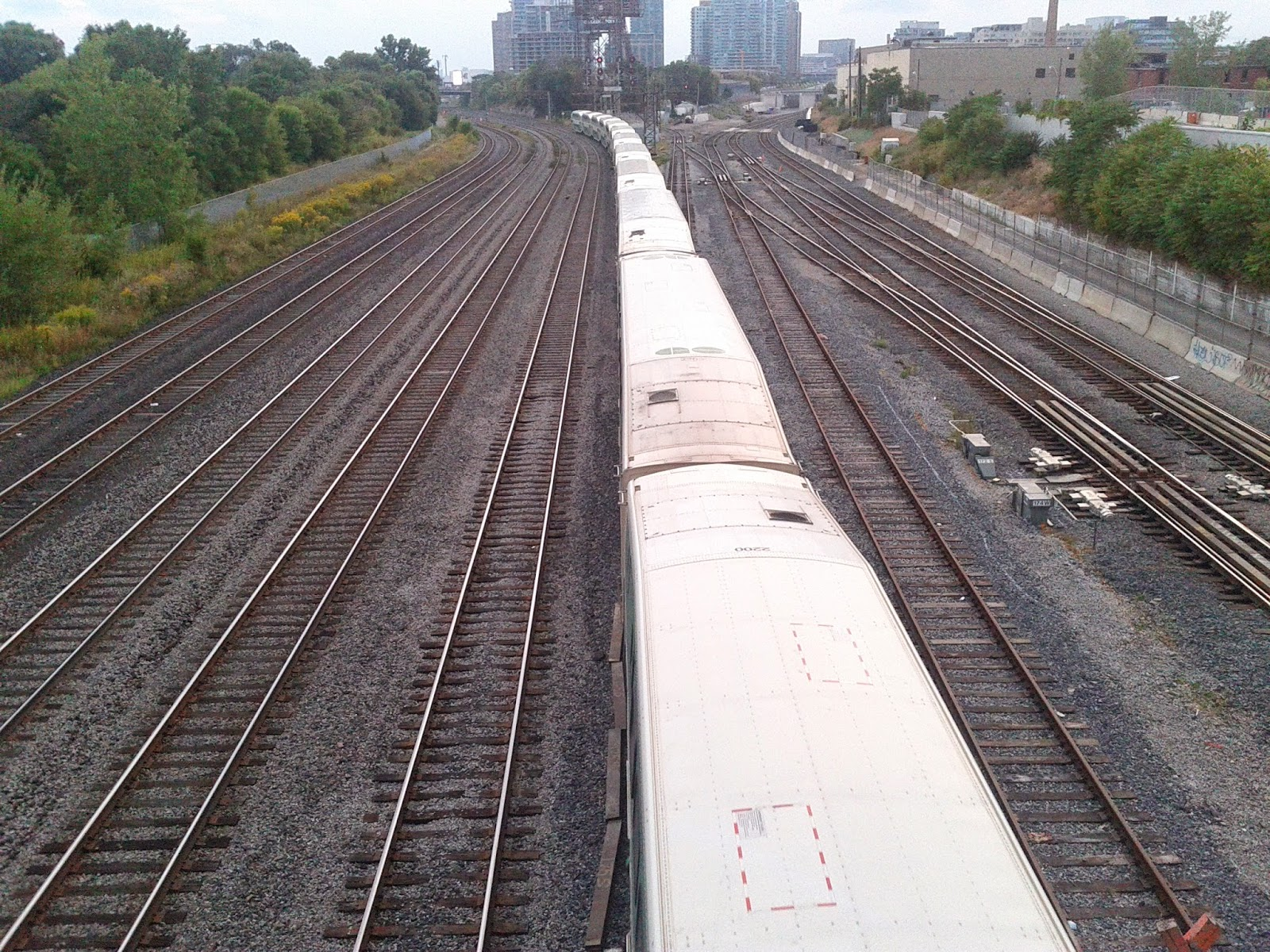 Stock photo: Train on train tracks (White)