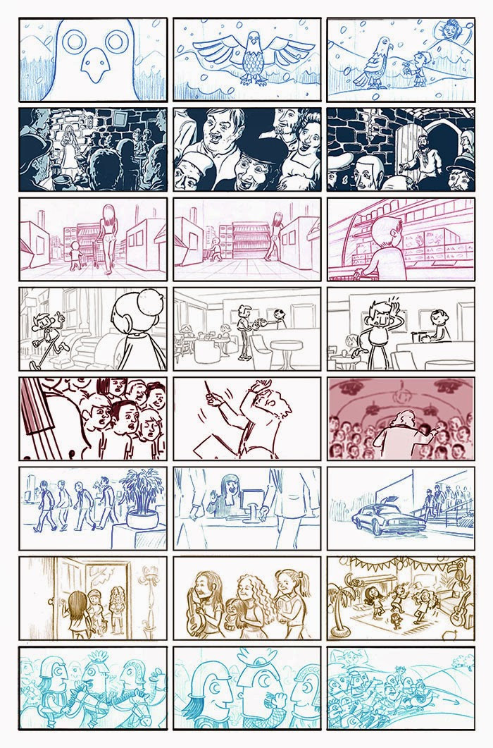Alex Potts  Animation Illustration Comics Storyboards Storyboards