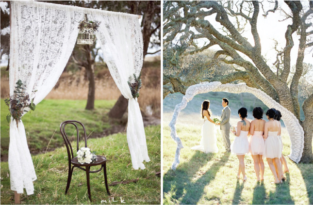 of unique ways to incorporate this romantic fabric into your nuptials